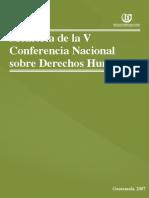 ASIES Memoria de la Conferencia Nacional de Derechos Humanos V, 2007