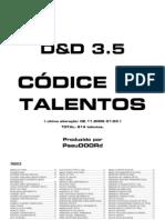 D&D 3.5 - Códice de Talentos