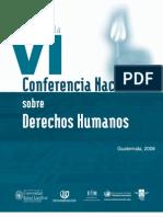 ASIES Memoria de la Conferencia Nacional de Derechos Humanos VI, 2008