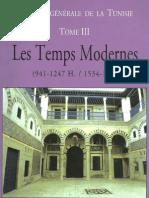 HISTOIRE GENERALE DE LA TUNISIE TOME  3