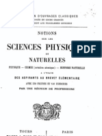 Notions de Sciences Physiques Et Naturelles (1902)