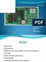 Speech Recognition System Using Ic Hm2007