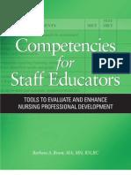 Competencies of Staff Educators