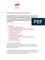 How to Start Your Anti-Discrimination Project