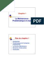 Chap1_La Maintenance Problematique Et Enjeux
