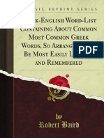 Greek-English Word-List Containing About Common Most Common Greek