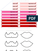 Valentine's Day Mustache/Lips and Flags by anna and blue paperie