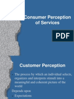 Consumer Perception of Services