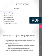 Introduction of operating system