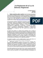 Proyecto de Reglamento de La Ley de Reforma Magisterial