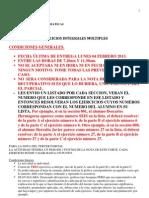 Ejercicios Integrales Multiples Para Los Alumnos Enero 2013