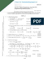 Engg Mathematics - 1 July 2011
