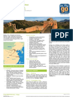 2012 Go Guide - Great Wall & Warriors - 9 Days