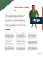 Towards Qualitative Customer Satisfaction