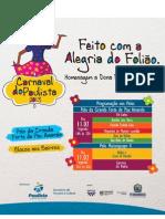 Programação do Carnaval de Paulista 11 e 12