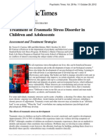 Treatment of Traumatic Stress Disorder in Children and Adolescents