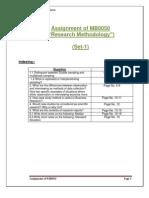 MB0050 Answer Sheet