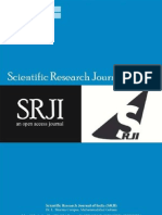 Scientific Research Journal of India (SRJI) Vol- 2, Issue- 1, Year- 2013