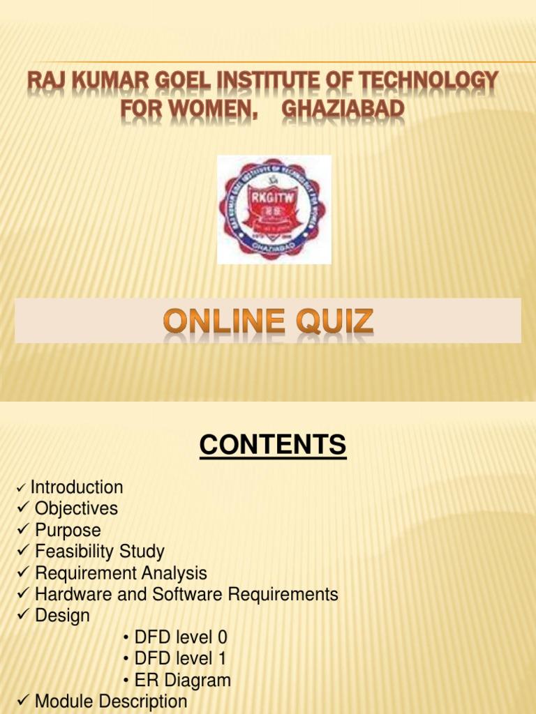 Online quiz feasibility study test assessment ccuart Images