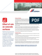 Effect of Rain on Concrete Surfaces