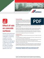 Effect of Rain on Concrete Surfaces