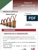 Analisis de Costos de Obras. Metodos de Estimacion - Copia