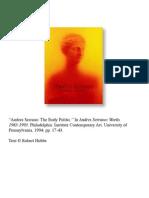 Andres Serrano the Body Politic - Robert Hobbs