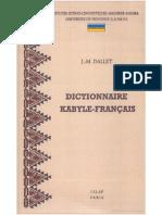 Dictionnaire Kabyle-francais de J.-M. Dallet
