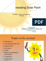 solar paint that generates electricity
