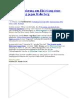 Rom- Aufforderung Zur Einleitung Einer Untersuchung Gegen Bilderberg