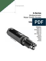 2 069300 YSI 6 Series Manual RevF(6 SeriesMultiparameterWaterQualitySondesUserManual)