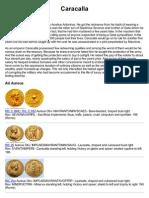 Coins of Roman Emperor Caracalla