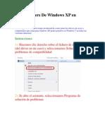 Poner Drivers de Windows XP en Windows 7