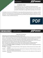 XF200 User's Manual 9
