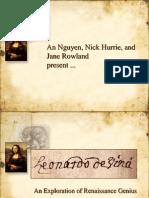 Leonardo Da Vinci - an exploration of rennaissance genius