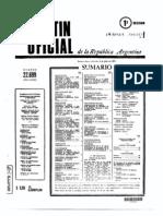 Decreto 11/73 en boletín oficial - listado de indultos de Cámpora