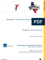 Disaster Technical Search Specialist Program Instruction