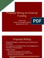 Proposal Writing for External Funding 2011