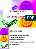 Lectia 1 Introducere in Neuropsihologie 01-02-2012