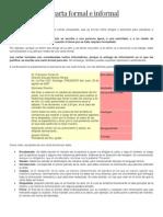 La Carta Formal e Informal