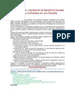 Casos Prácticos -  Beneficios Sociales