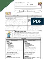 Ficha Discurso Directo e Indirecto