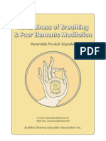 Mindfulness of Breathing and the Four Elements Meditation