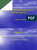 Principiile de Organizare a Unui Cabinet Medical