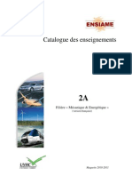 Catalogue Enseignements ME2A
