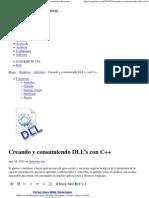 (Creando y consumiendo DLL's con C++ _ Programando por diversion)
