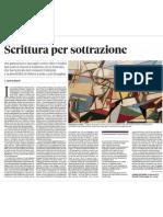 Andrea Bajani Scrittura Per Sottrazione