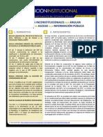 Posición Institucional de Fusades sobre Reformas a Ley de Acceso a la Información