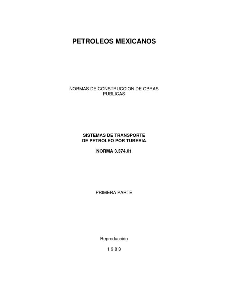 3.374.01 Sistemas de Transporte de Petroleo Por Tuberia