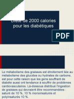 Diète de 2000 calories pour les diabétiques